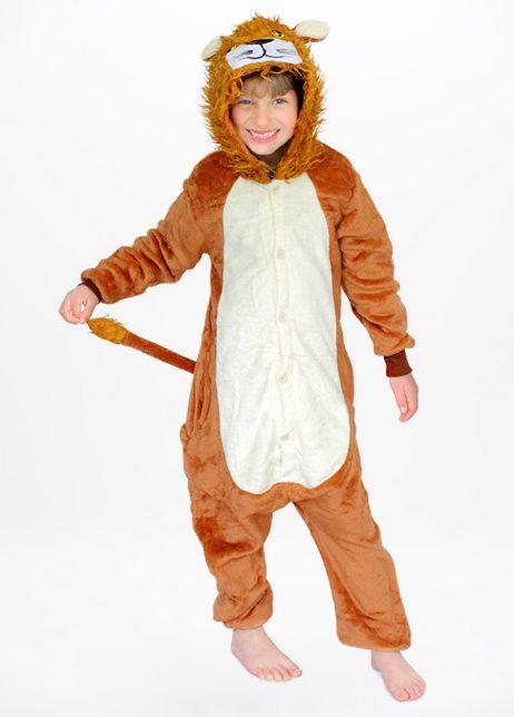 Leeuw onesie Lion kids front hood