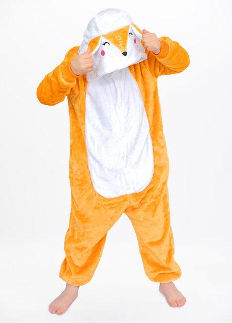 Vos onesie Fox kids front hood